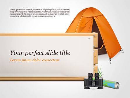 Tent PowerPoint Template, 15113, Holiday/Special Occasion — PoweredTemplate.com