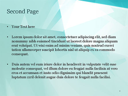 Broken Ice Pieces PowerPoint Template, Slide 2, 15117, Abstract/Textures — PoweredTemplate.com