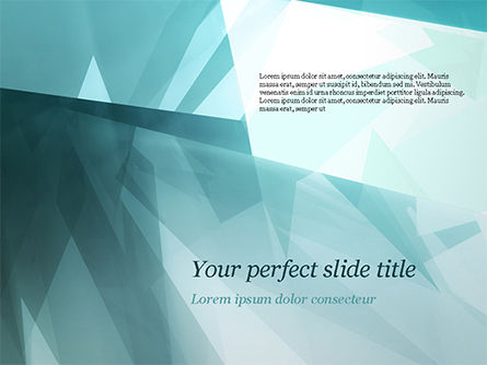 Abstract/Textures: Broken Ice Pieces PowerPoint Template #15117