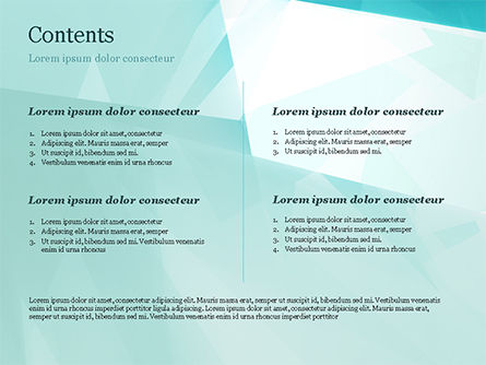 Broken Ice Pieces PowerPoint Template, Slide 2, 15117, Abstract/Textures — PoweredTemplate.com