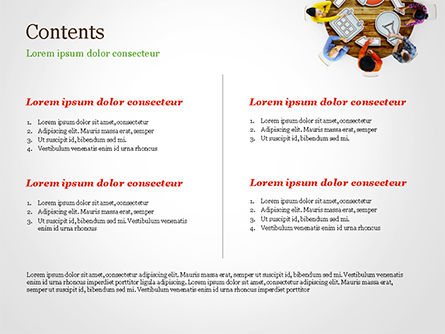 People Discussing New Project PowerPoint Template, Slide 2, 15118, Business Concepts — PoweredTemplate.com