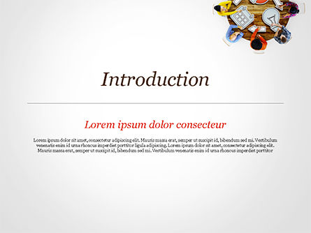People Discussing New Project PowerPoint Template, Slide 3, 15118, Business Concepts — PoweredTemplate.com