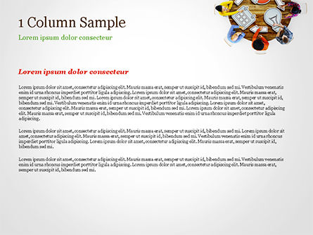 People Discussing New Project PowerPoint Template, Slide 4, 15118, Business Concepts — PoweredTemplate.com