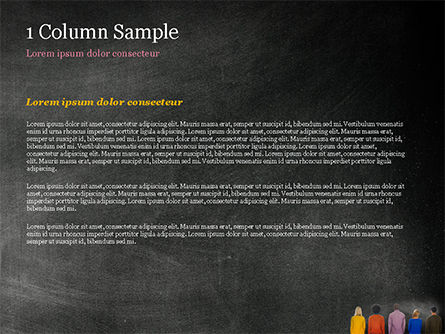 Peoples in Front of Large Blackboard PowerPoint Template, Slide 4, 15119, Education & Training — PoweredTemplate.com