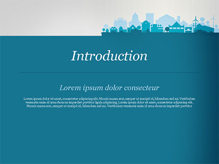 Small Town Skyline PowerPoint Template, Slide 3, 15120, Real Estate — PoweredTemplate.com