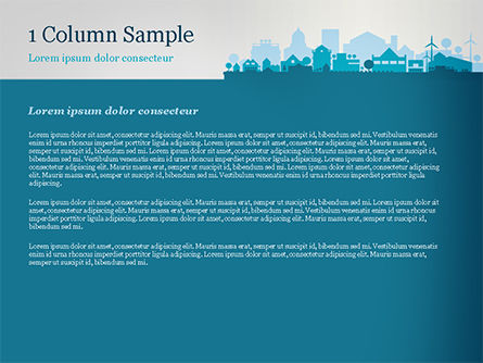 Small Town Skyline PowerPoint Template, Slide 4, 15120, Real Estate — PoweredTemplate.com