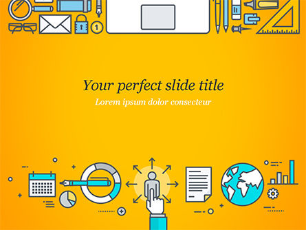 Human Resources Illustration PowerPoint Template, 15121, Business Concepts — PoweredTemplate.com