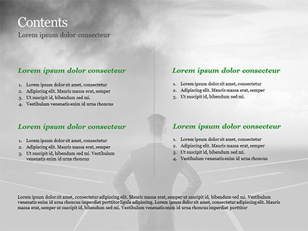 Businessman at Crossroads PowerPoint Template, Slide 2, 15122, Business Concepts — PoweredTemplate.com
