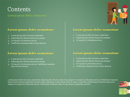 Delivery Service Illustration PowerPoint Template, Slide 2, 15123, Careers/Industry — PoweredTemplate.com