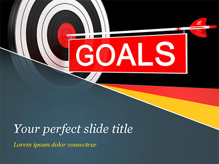 Business Concepts: Goals PowerPoint Template #15124