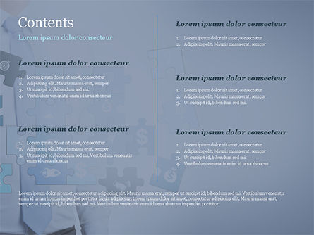 Man with Blue Business Puzzle PowerPoint Template, Slide 2, 15125, Business Concepts — PoweredTemplate.com