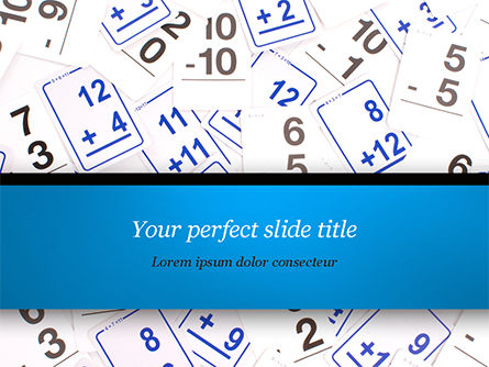 Math Flashcards PowerPoint Template, 15128, Education & Training — PoweredTemplate.com