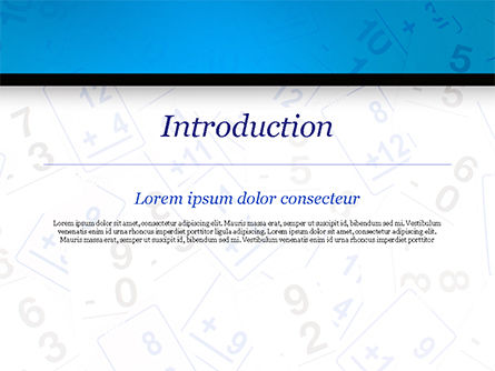 Math Flashcards PowerPoint Template, Slide 3, 15128, Education & Training — PoweredTemplate.com
