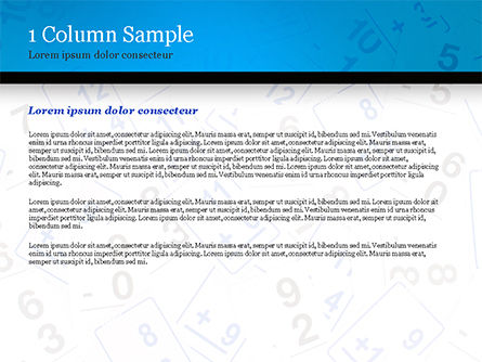Math Flashcards PowerPoint Template, Slide 4, 15128, Education & Training — PoweredTemplate.com