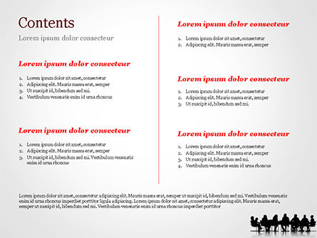 Business People Silhouettes PowerPoint Template, Slide 2, 15130, Business — PoweredTemplate.com