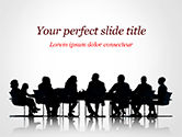 Business: Business People Silhouettes PowerPoint Template #15130