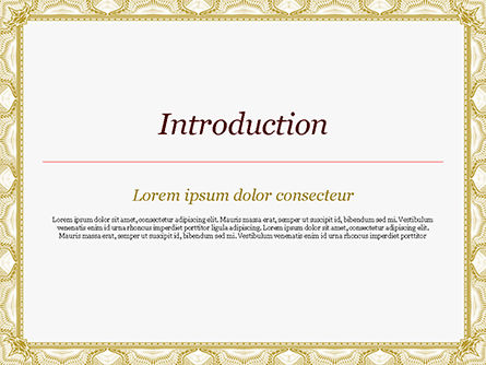 Certificate with Sinuous Pattern PowerPoint Template, Slide 3, 15131, Abstract/Textures — PoweredTemplate.com