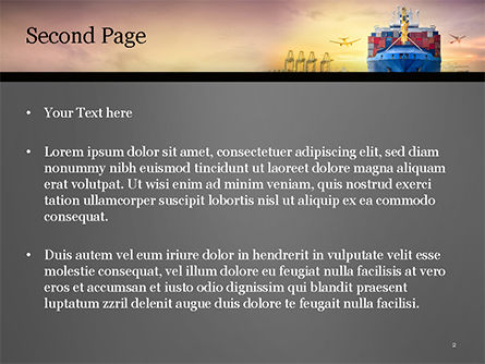 Shipping and Freight Forwarding PowerPoint Template, Slide 2, 15132, Careers/Industry — PoweredTemplate.com