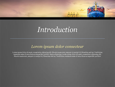 Shipping and Freight Forwarding PowerPoint Template, Slide 3, 15132, Careers/Industry — PoweredTemplate.com