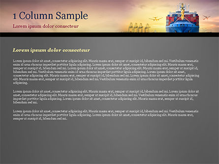 Shipping and Freight Forwarding PowerPoint Template, Slide 4, 15132, Careers/Industry — PoweredTemplate.com