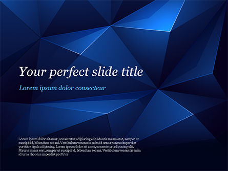 Blue Abstract Geometric Triangles PowerPoint Template, 15133, Abstract/Textures — PoweredTemplate.com