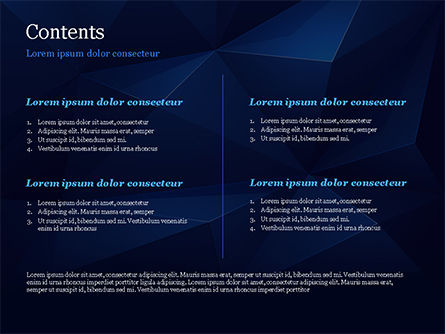 Blue Abstract Geometric Triangles PowerPoint Template, Slide 2, 15133, Abstract/Textures — PoweredTemplate.com