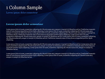 Blue Abstract Geometric Triangles PowerPoint Template, Slide 4, 15133, Abstract/Textures — PoweredTemplate.com