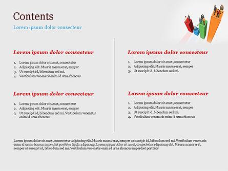 Business People Over Bar Chart PowerPoint Template, Slide 2, 15134, Business Concepts — PoweredTemplate.com