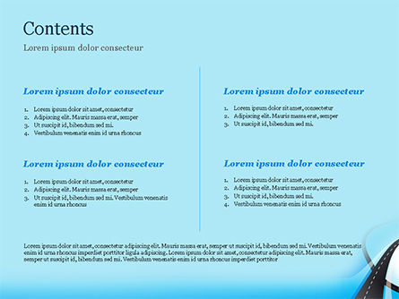 Uphill Winding Road on Blue Background PowerPoint Template, Slide 2, 15135, Business Concepts — PoweredTemplate.com