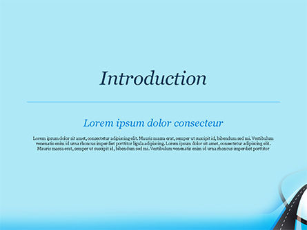 Uphill Winding Road on Blue Background PowerPoint Template, Slide 3, 15135, Business Concepts — PoweredTemplate.com