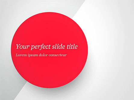 Red Circle PowerPoint Template, 15136, Abstract/Textures — PoweredTemplate.com