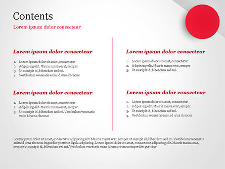 Red Circle PowerPoint Template, Slide 2, 15136, Abstract/Textures — PoweredTemplate.com