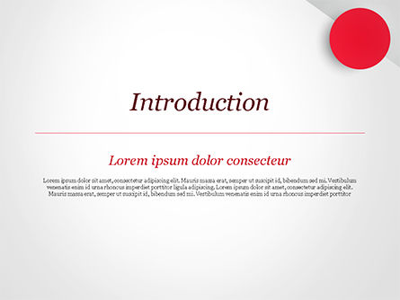 Red Circle PowerPoint Template, Slide 3, 15136, Abstract/Textures — PoweredTemplate.com