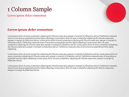 Red Circle PowerPoint Template, Slide 4, 15136, Abstract/Textures — PoweredTemplate.com
