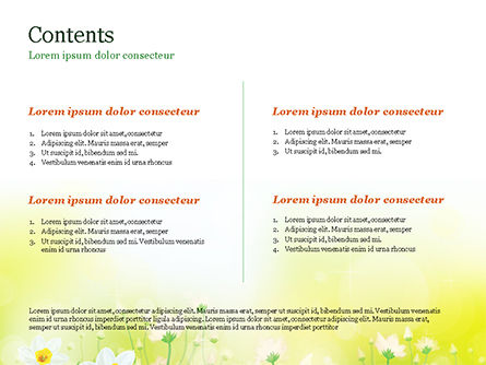 Daffodils PowerPoint Template, Slide 2, 15138, Nature & Environment — PoweredTemplate.com