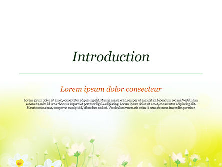 Daffodils PowerPoint Template, Slide 3, 15138, Nature & Environment — PoweredTemplate.com