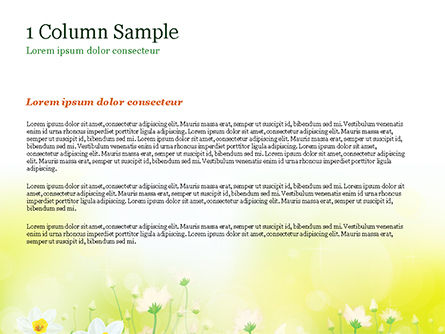 Daffodils PowerPoint Template, Slide 4, 15138, Nature & Environment — PoweredTemplate.com
