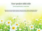 Nature & Environment: Narcissen PowerPoint Template #15138