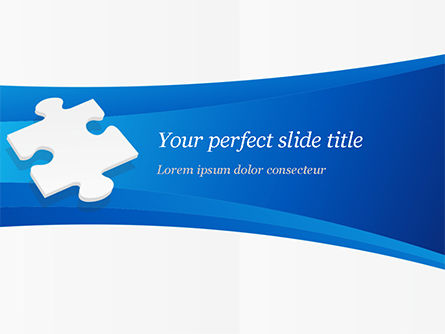 Business Concepts: Piece of White Puzzle PowerPoint Template #15139