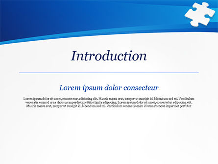Piece of White Puzzle PowerPoint Template, Slide 3, 15139, Business Concepts — PoweredTemplate.com