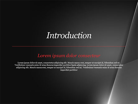 Black Layers and Ray of Light PowerPoint Template, Slide 3, 15141, Abstract/Textures — PoweredTemplate.com