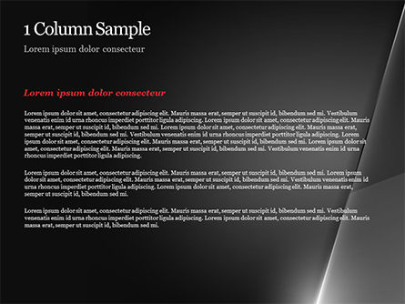 Black Layers and Ray of Light PowerPoint Template, Slide 4, 15141, Abstract/Textures — PoweredTemplate.com