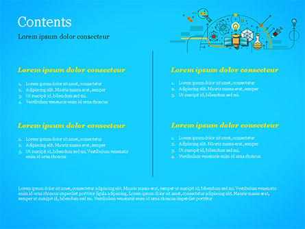 Chemical Experiments Concept PowerPoint Template, Slide 2, 15144, Technology and Science — PoweredTemplate.com