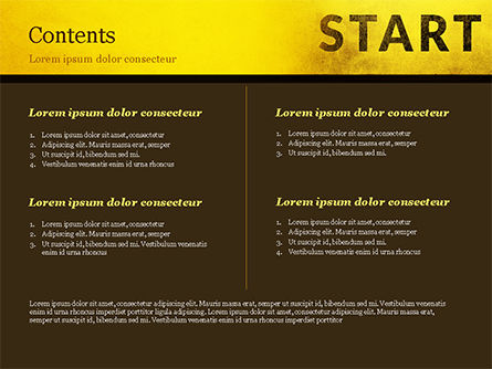Businessman Standing in Start Position PowerPoint Template, Slide 2, 15145, Business Concepts — PoweredTemplate.com