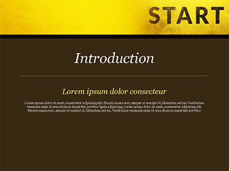 Businessman Standing in Start Position PowerPoint Template, Slide 3, 15145, Business Concepts — PoweredTemplate.com