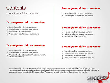 Concept of success and 3D Man PowerPoint Template, Slide 2, 15147, Business Concepts — PoweredTemplate.com