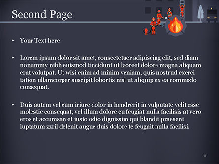 Fire Extinguishing Illustration PowerPoint Template, Slide 2, 15148, Careers/Industry — PoweredTemplate.com