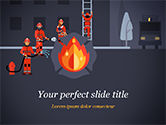 Careers/Industry: Fire Extinguishing Illustration PowerPoint Template #15148