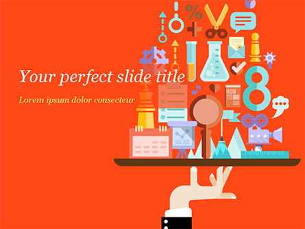 Technology and Science: Search Engine Concept PowerPoint Template #15153