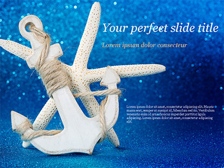 Anchor and Starfish PowerPoint Template, 15155, Holiday/Special Occasion — PoweredTemplate.com